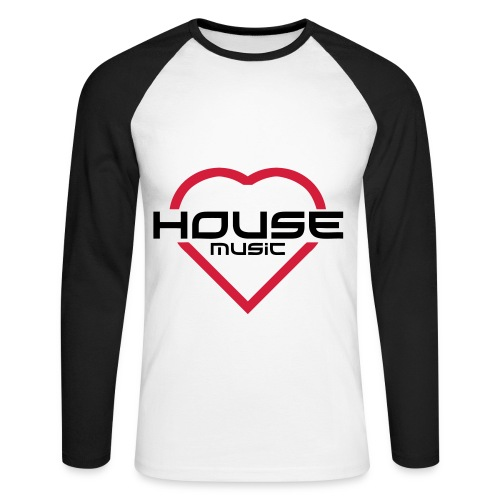 T-Shirt House Music - T-shirt baseball manches longues Homme