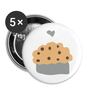 ''Muffin love'' Pack of 5 small 25mm badges - Buttons small 25 mm