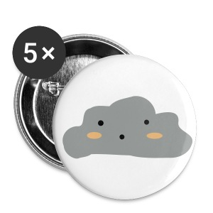 ''Cloudy Skies'' Pack of 5 small 25mm badges - Buttons small 25 mm