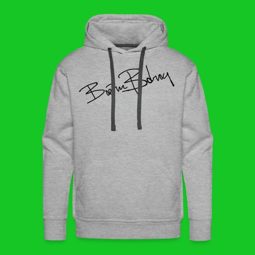 Boern en Bdrog mannesweater met capuchon grijs - Mannen Premium hoodie