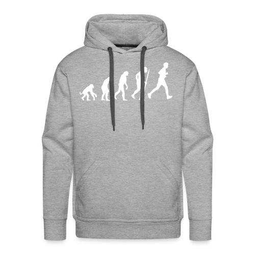 Sweater + capuchon evolutie hardlopen - Mannen Premium hoodie
