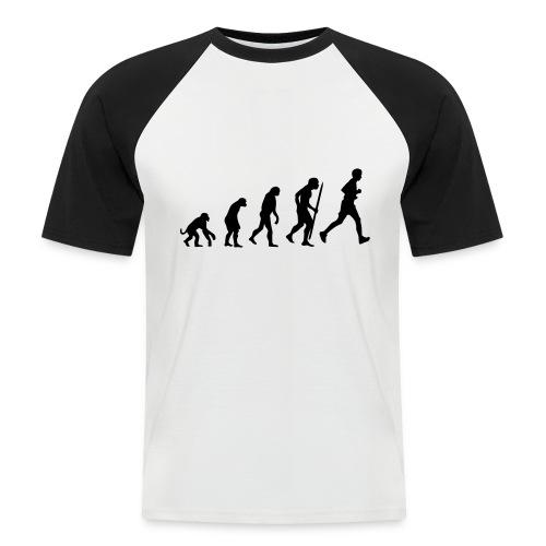 Evolutie hardlopen - Mannen baseballshirt korte mouw