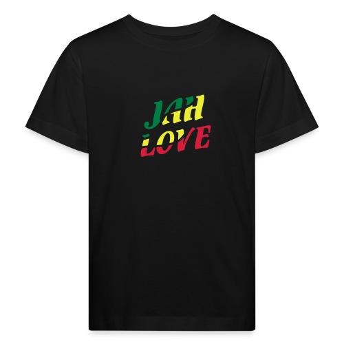 schwarzes Kinder-Shirt Jah Love - Kinder Bio-T-Shirt