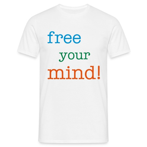 t-skjorte free your mind! gutt - T-skjorte for menn