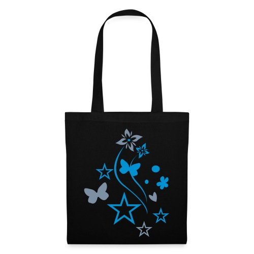 blue/silver butterfly tote bag  - Tote Bag