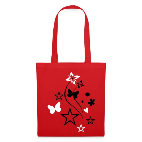 black/white butterfly tote bag  - Tote Bag