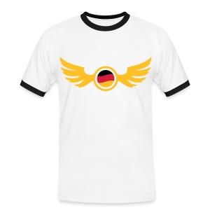 Weiß/schwarz germany_2 T-Shirts - Männer Kontrast-T-Shirt