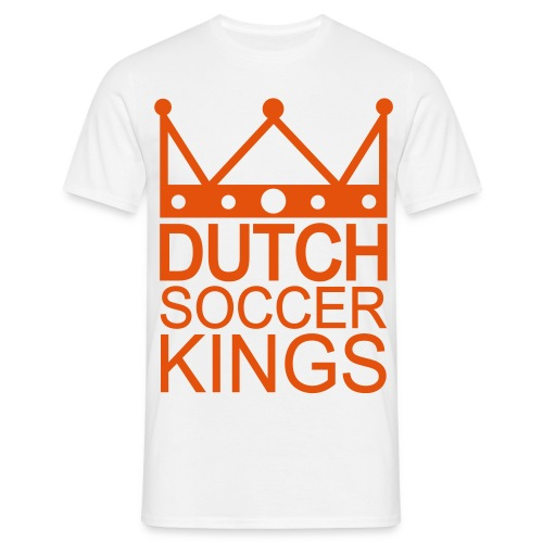 Men: Dutch Soccer Kings wit - Mannen T-shirt