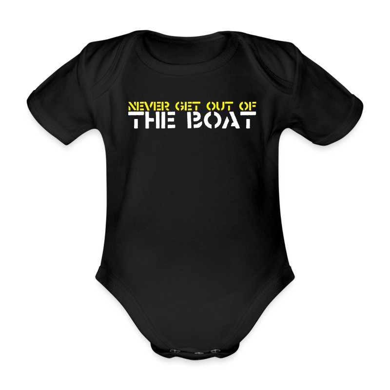 Never Get out of the Baby one-piece - Organic Short-sleeved Baby Bodysuit
