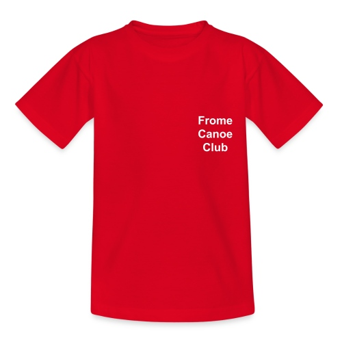 FCC Childrens T shirt with White text - Teenage T-Shirt