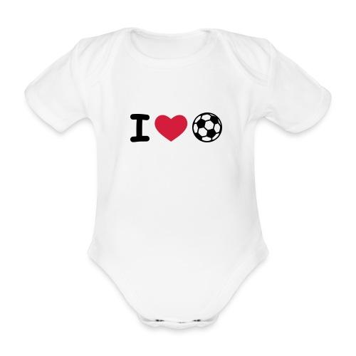 i love calcio - Body ecologico per neonato a manica corta