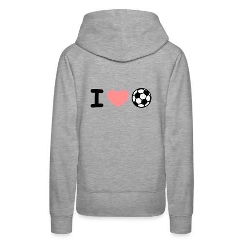 i love calcio - Felpa con cappuccio premium da donna