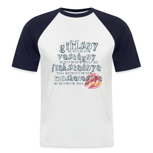 nynorsk Lofote Fiske - Norwegen Shirt - Männer Baseball-T-Shirt