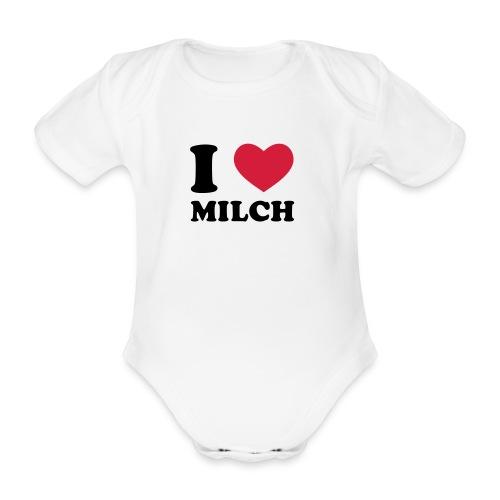 Body Baby Milch  - Baby Bio-Kurzarm-Body