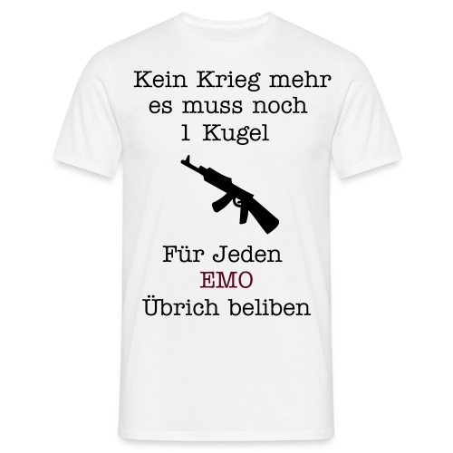 no war And no Emo´s - Männer T-Shirt