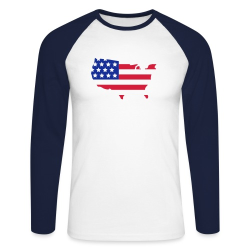 Men's Team USA Long Sleeve Shirt - Men's Long Sleeve Baseball T-Shirt