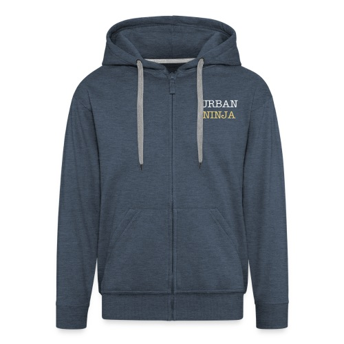 Men's Premium Hooded Jacket - Design repeated on the back with star logo