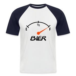 bier meter - Mannen baseballshirt korte mouw