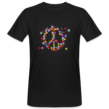 Nero Flower Power pace / flower power peace (DDP) T-shirt