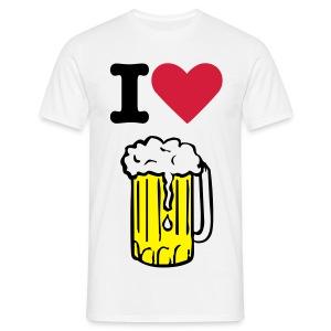 i love beer - Koszulka męska