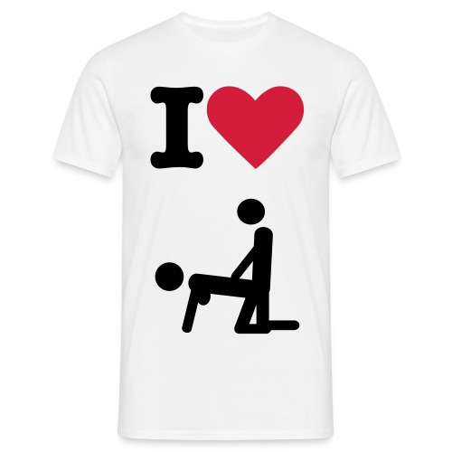i love anal - Koszulka męska