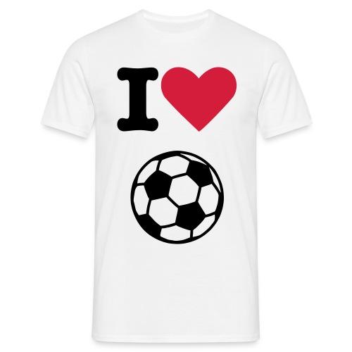 i love soccer - Koszulka męska