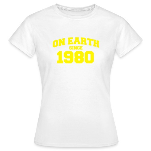 White Print T-shirt - Women's T-Shirt
