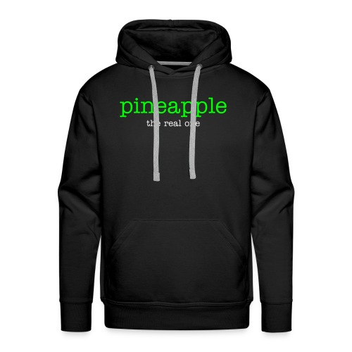 pineapple the real one logo neongreen / white - Männer Premium Hoodie