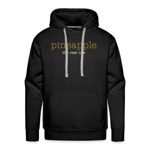 pineapple the real one logo gold sparkle / white - Männer Premium Hoodie