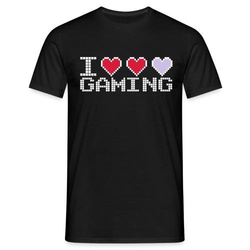 I love gaming - Herre-T-shirt