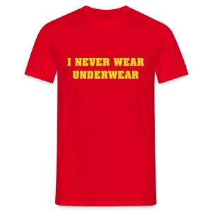No Undies T-shirt - Men's T-Shirt