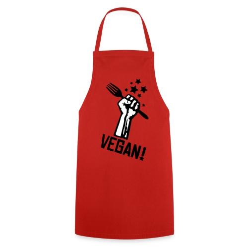Kochschürze rising fist VEGAN! - *pow* - Kochschürze