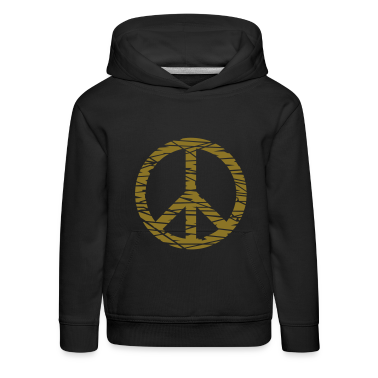 Navy vrede / peace (grunge, 1c) Kinder sweaters