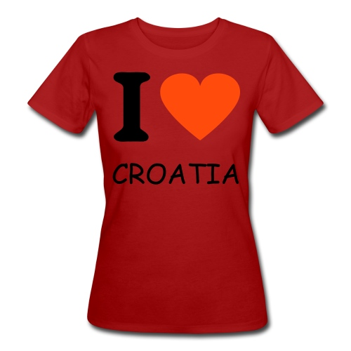 I love Croatia - Frauen Bio-T-Shirt