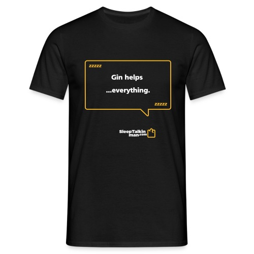MENS: Gin helps everything. - Men's T-Shirt