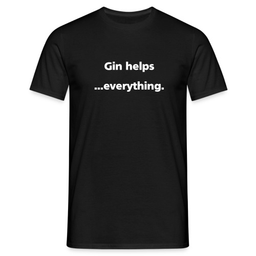 MENS SIMPLE: Gin helps everything - Men's T-Shirt