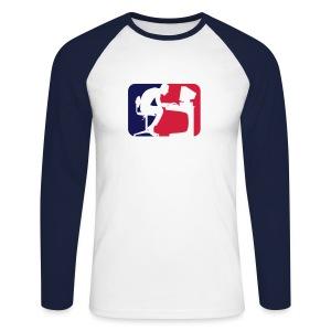 Nerdiac Insignia - Men's Long Sleeve Baseball T-Shirt