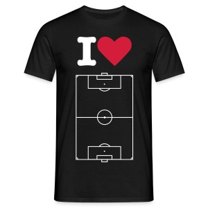 I love football_wh - T-shirt Homme
