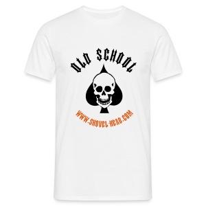 Old School Skull Spade - Männer T-Shirt