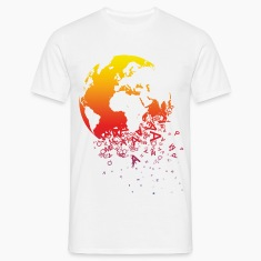 White World dissolves Men's T-Shirts