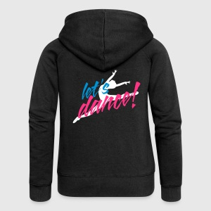 Black Let's Dance Dancer Leaping Coats & Jackets - Women's Premium Hooded Jacket