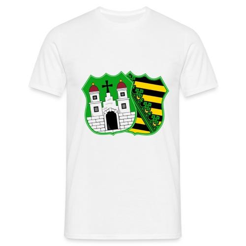 Herren T-Shirt Wappen mit Schriftzug - Männer T-Shirt