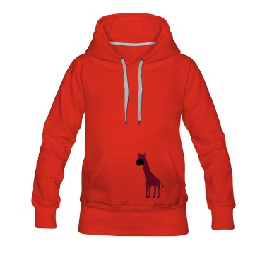 Red Giraffe Hoodies & Sweatshirts