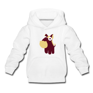 Light heather grey Horse in the cartoon style  Kids' Tops