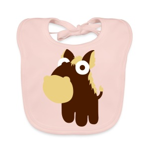 Rose Horse in the cartoon style  Accessories - Baby Organic Bib