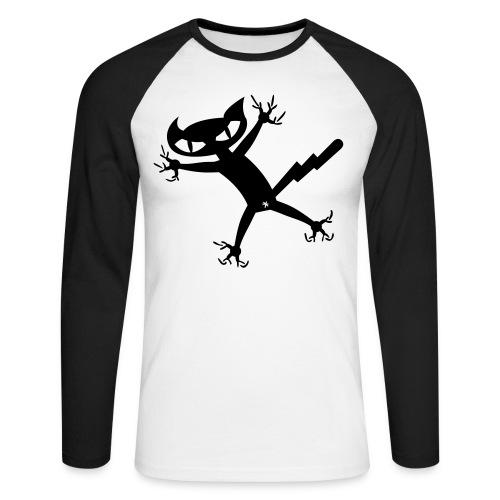 Bad Cat - Baseballshirt - Männer Baseballshirt langarm