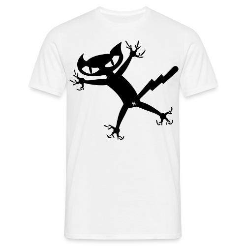 Bad Cat - weiß shirt - Männer T-Shirt