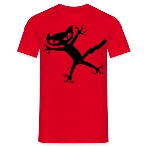 Bad Cat - rot shirt - Männer T-Shirt