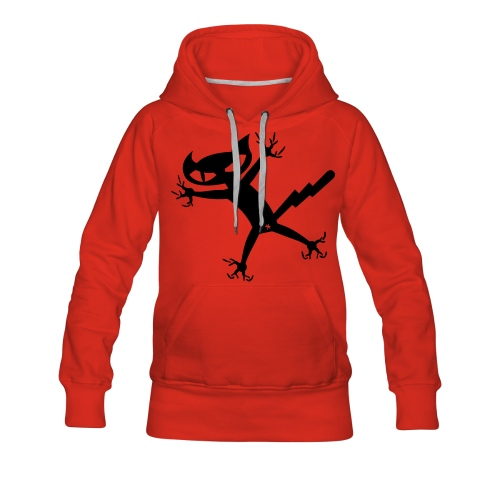 Bad Cat - rot Frauenkapu - Frauen Premium Hoodie