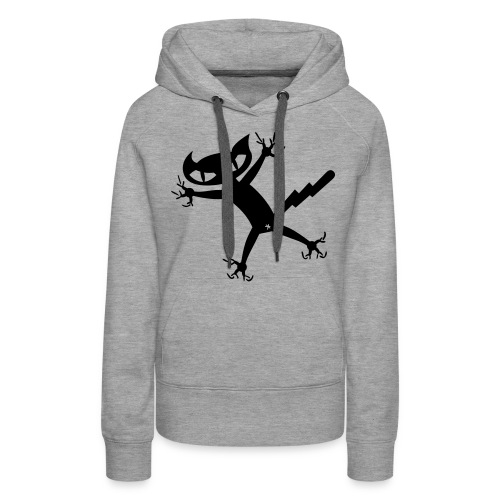 Bad Cat - grau Frauenkapu - Frauen Premium Hoodie